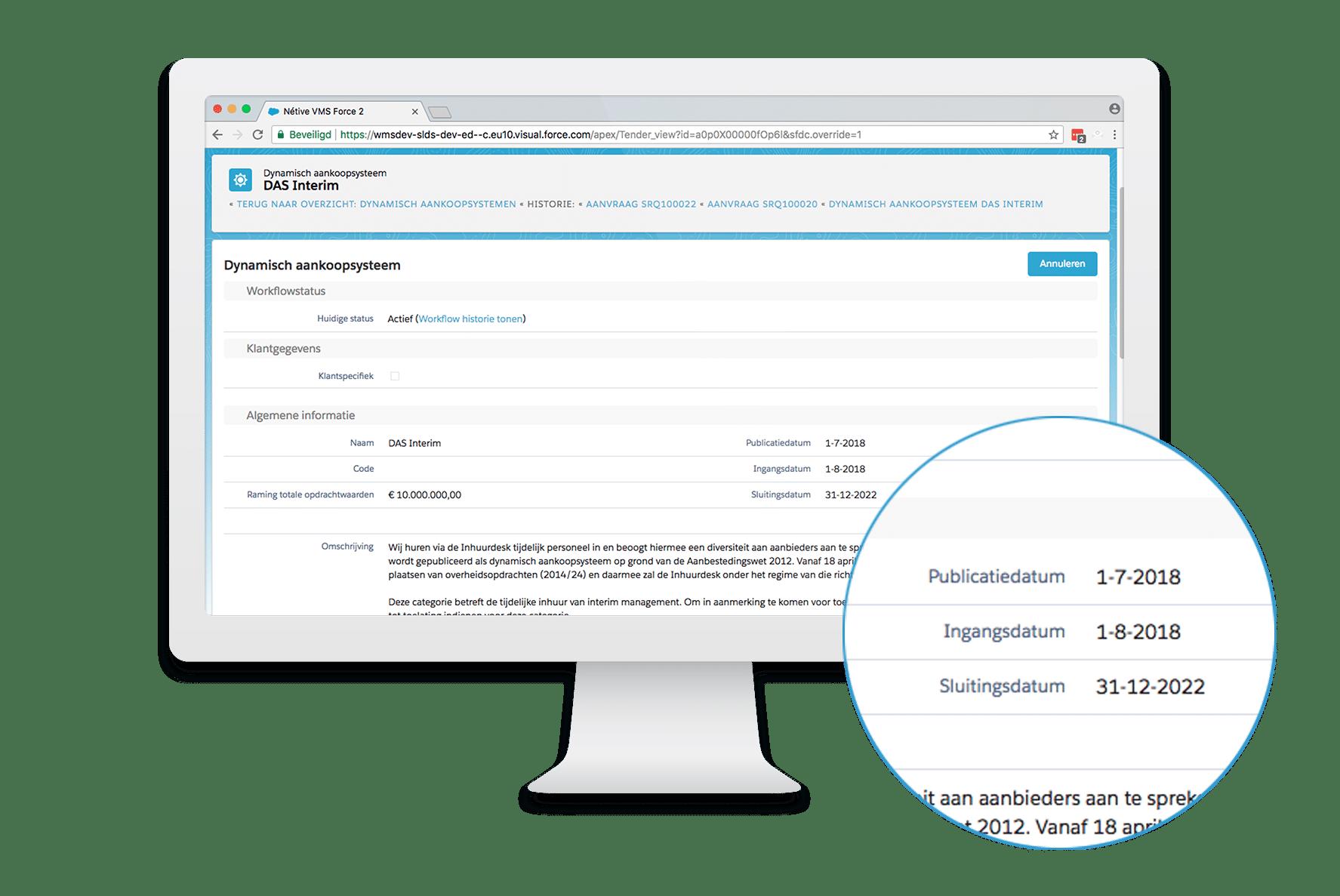 DAS-Verzoek-Toelating-scherm