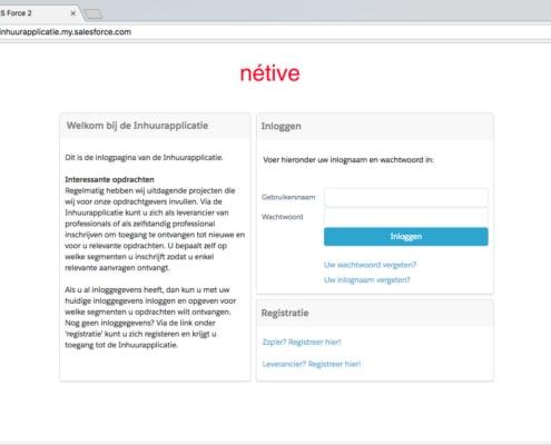 vms-leveranciersmanagement inlogpagina