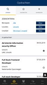 KvK app Zoekcriteria