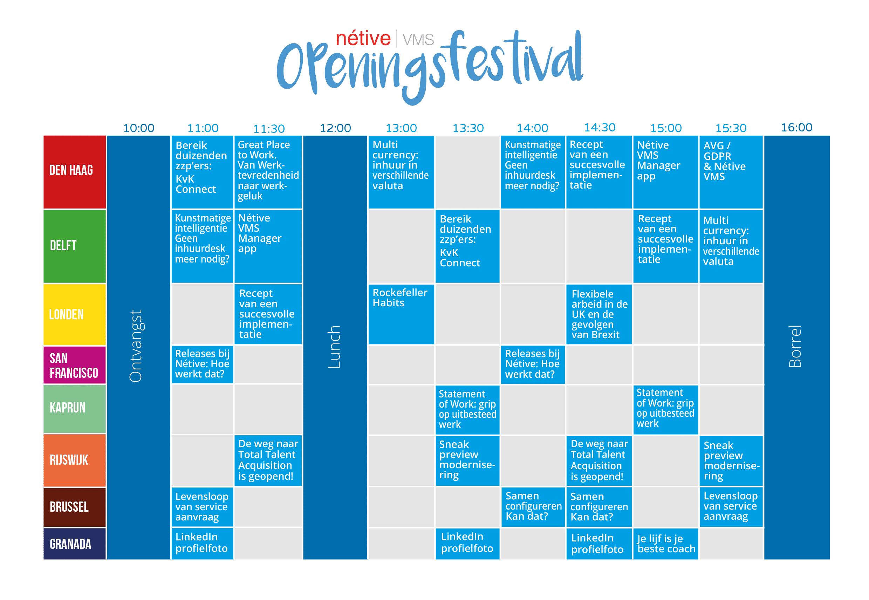 Nétive openingsfestival programma