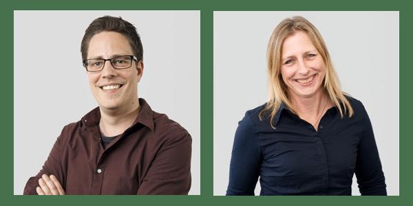 Netive Sander Sijbrandrij (Software Engineer) en Daniëlle Spaans (Senior Consultant)