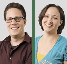 Sander Sijbrandij (software engineer) en Miranda Nelck (consultant)