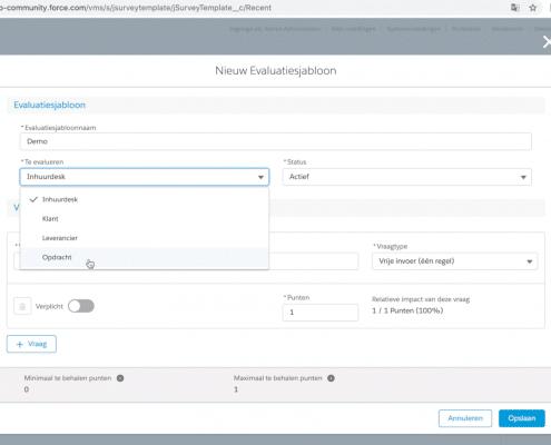 Evaluatiesjabloon vragen Netive VMS