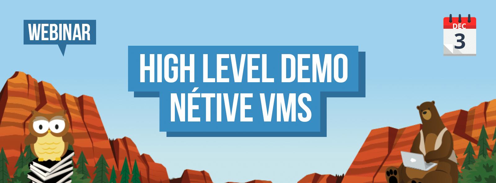 Webinar Netive VMS High Level Demo 3 december