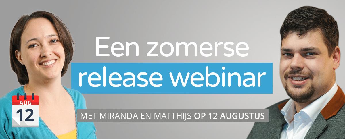 Release webinar augustus Netive VMS